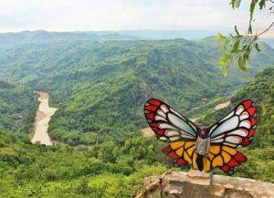 spot selfie kupu-kupu, kupu kupu di jurang tembelan kanigoro