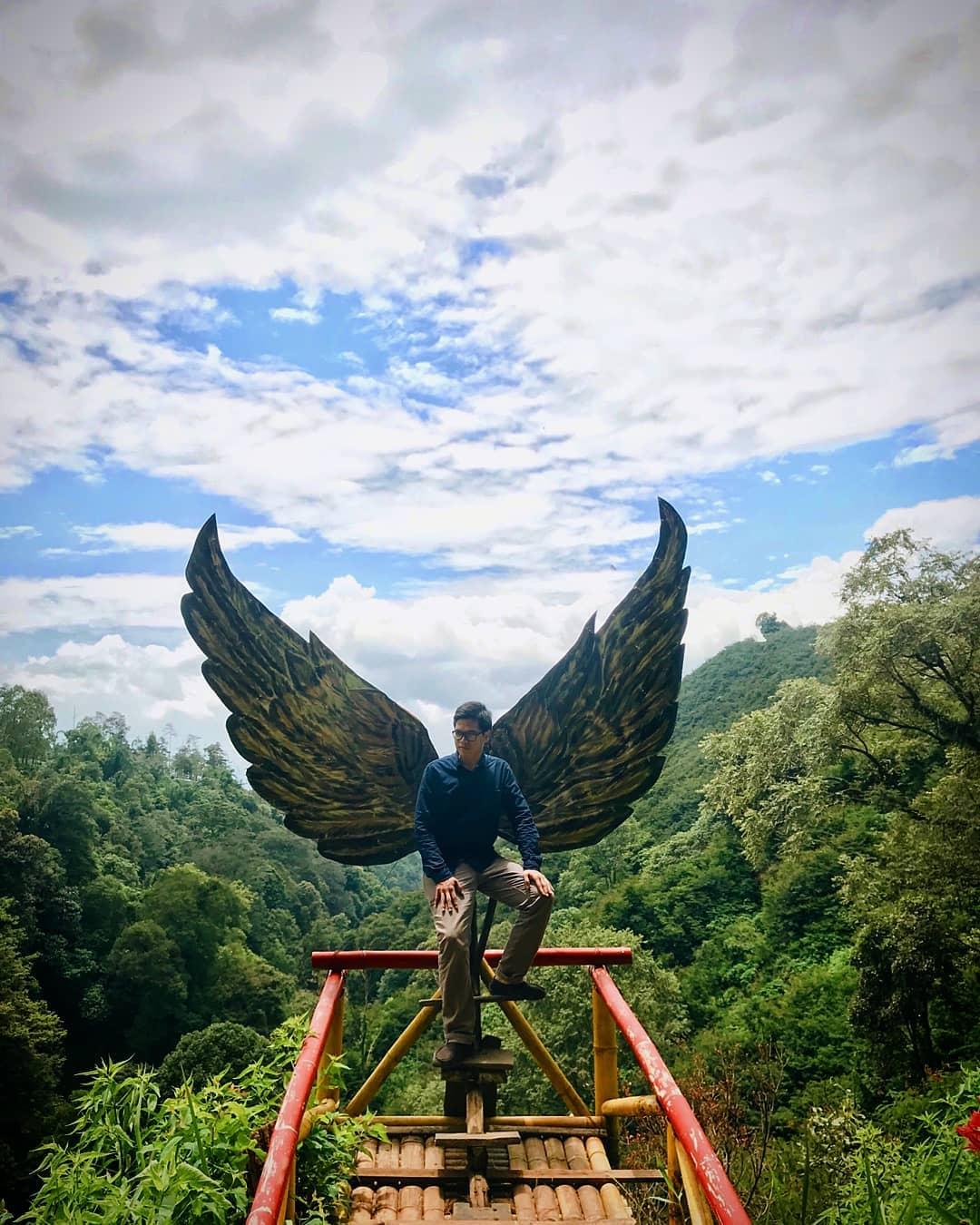 sayap burung di coban talun