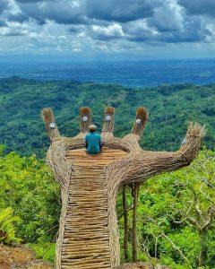tangan raksasa di hutan pinus pengger