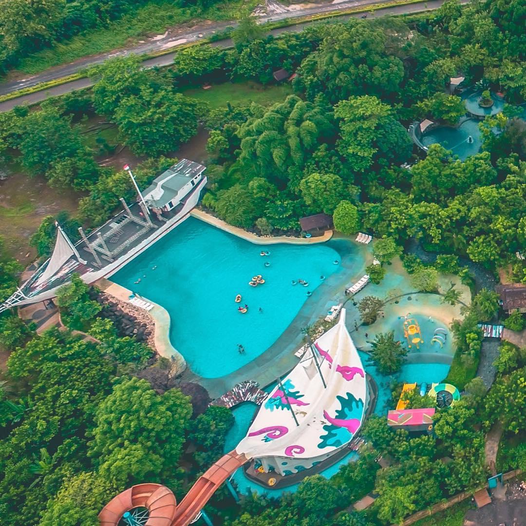 panorama bugis waterpark dari ketinggian