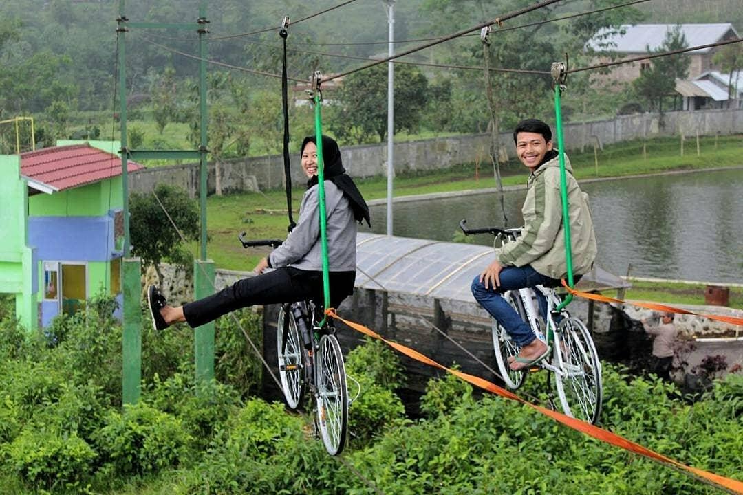 spot foto skybike di lembah asri serang purbalingga