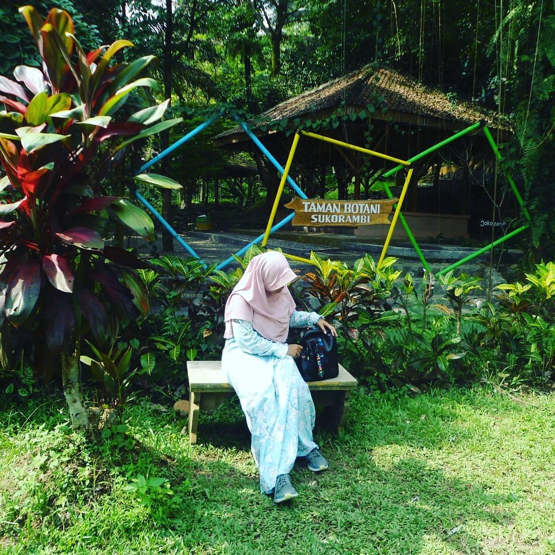 bersantai di taman botani sukorambi jember
