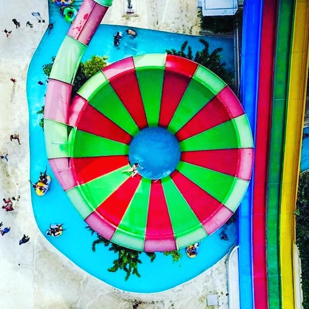 foto wahana splash waterpark bali dari atas