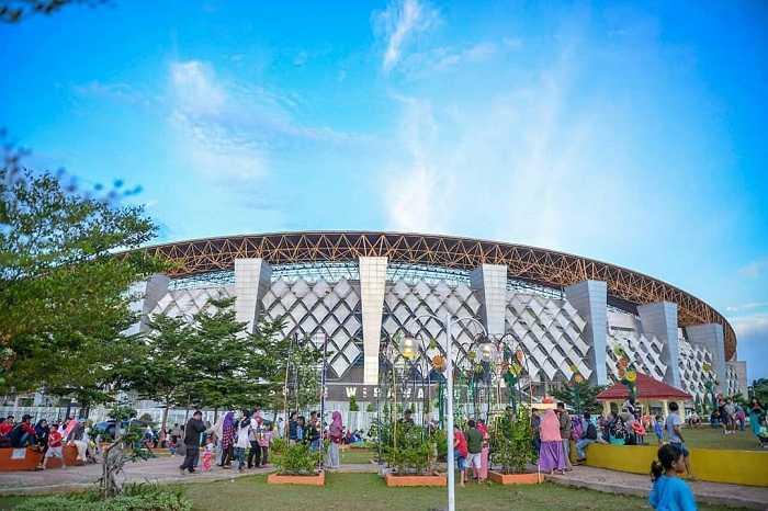 panorama stadiun dan taman sehati