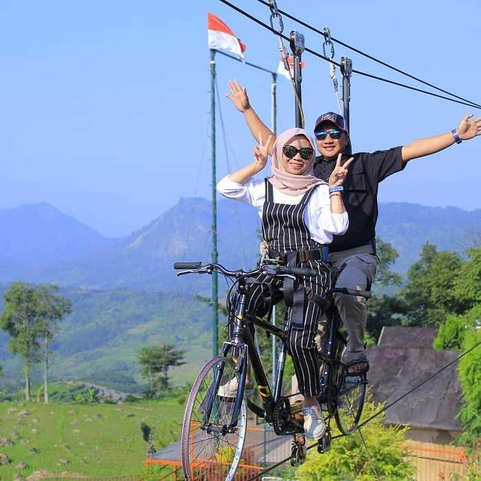 skybike di villa khayangan