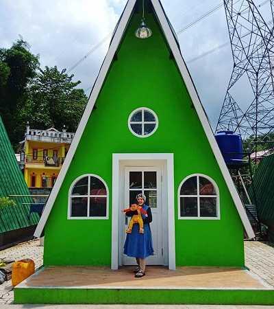 villa pelangi segitiga victory waterpark soreang bandung